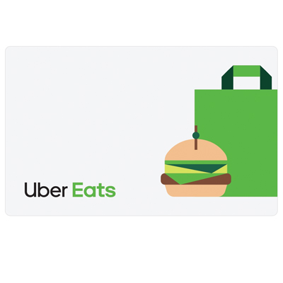 UBER EATS $25 Gift Card - Get the food you want, delivered fast and fresh.  Use the Uber Eats app to pick from many full menus from local restaurants.