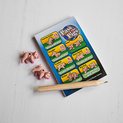 PASS THE PIGS<sup>®</sup> Dice Game - Toss these tiny pig